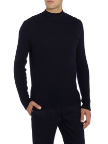 Hugo Smud High Neck Ribbed Knit