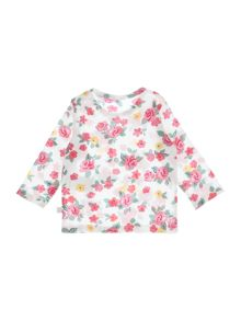 Benetton Baby Vintage Floral Print T-Shirt