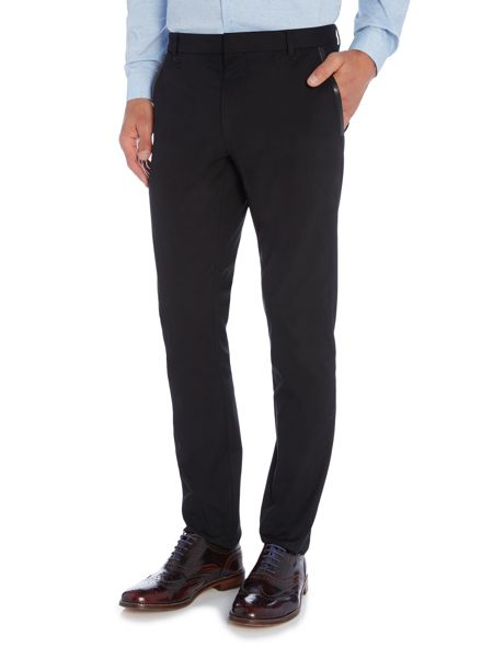 Hugo Halyk Leather Trim Trousers