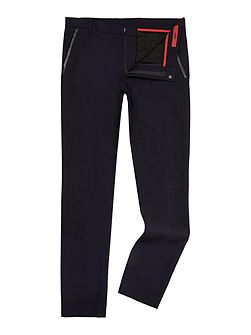 Halyk Leather Trim Trousers