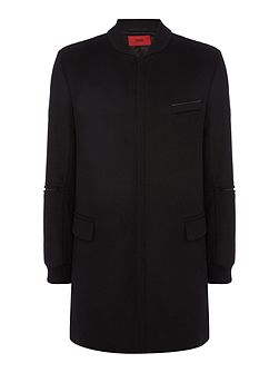 Mazon Basketball Collar Long Coat