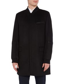 Hugo Mazon Basketball Collar Long Coat
