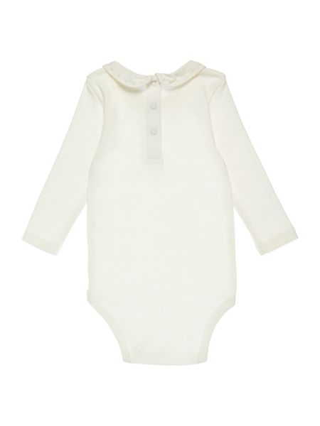 Benetton Girls Rounded Embroidered Collar Bodysuit