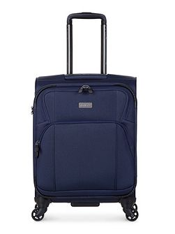 Airstream 2 navy 4 wheel soft cabin suitcase