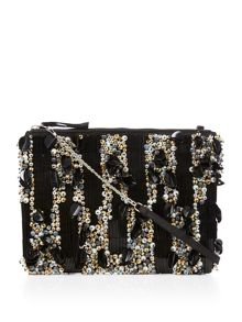 Therapy Embellished clutch bag