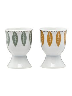 Turtle dove porcelain egg cups set of 2