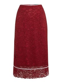 Sportmax Code Bettina pencil skirt with lace overlay