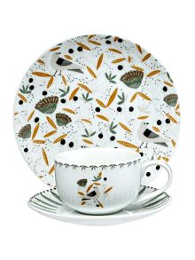 Linea Turtle dove porcelain tea for 1