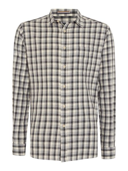 Howick Colden Marl Checked Long Sleeved Shirt