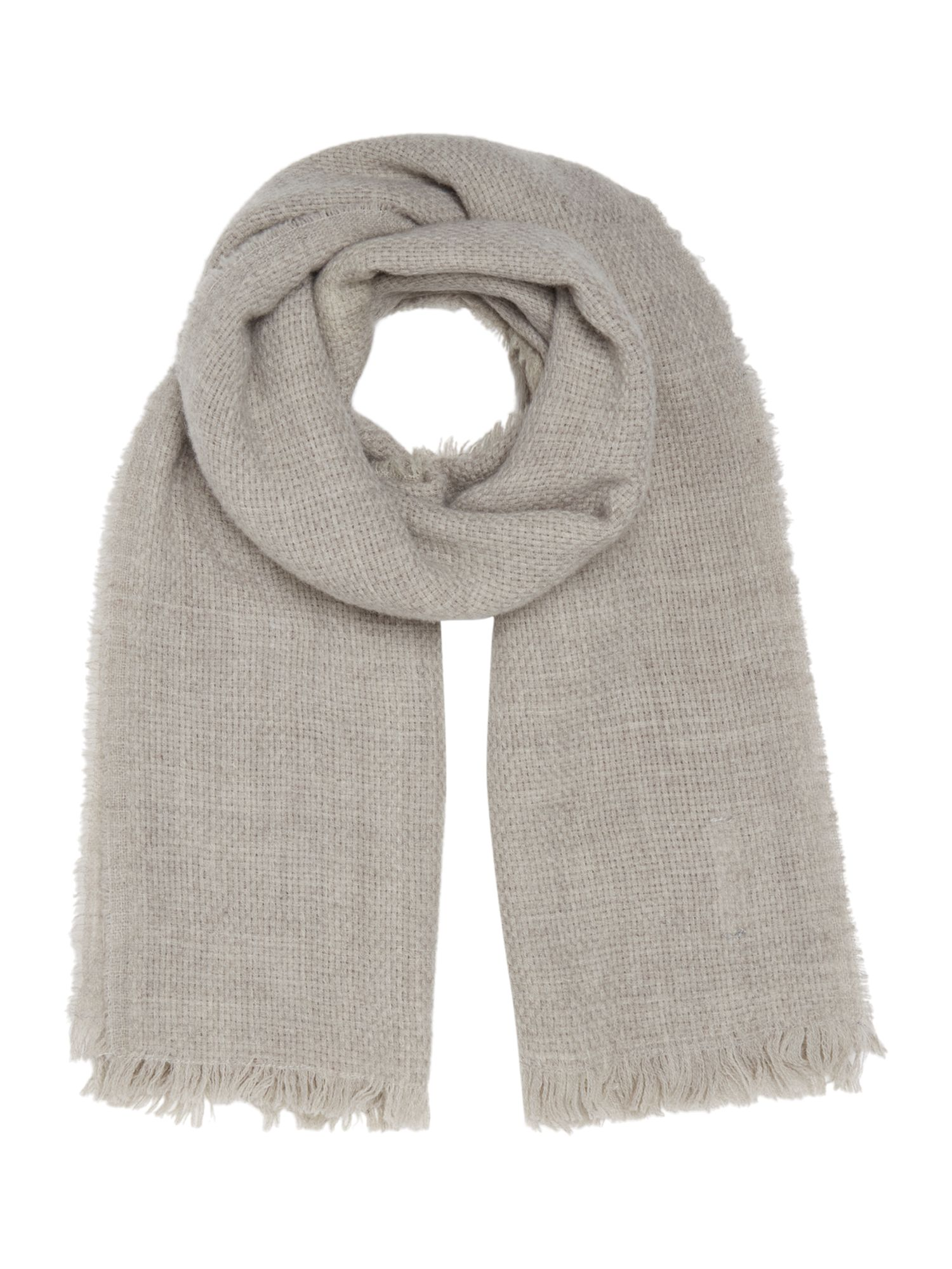 Gray & Willow Gray & Willow Weaved Wool Scarf, Grey