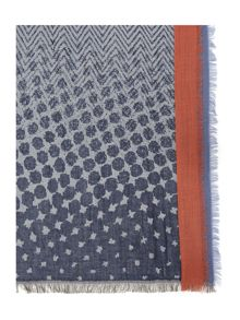 Dickins & Jones Double Border Spot Print Scarf