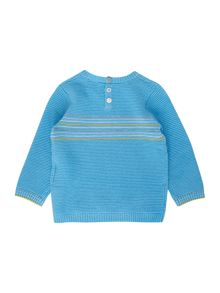Benetton Baby Crew Ribbed With Stripe Chest Panel