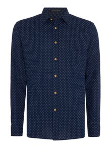 Howick Sullivan Print Long Sleeved Shirt