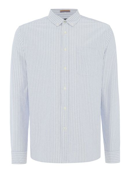 Howick Hythe Oxford Stripe Long Sleeved Shirt
