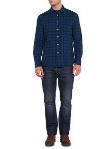 Howick Clubhouse Brushed Oxford Check Long Sleeve Shirt