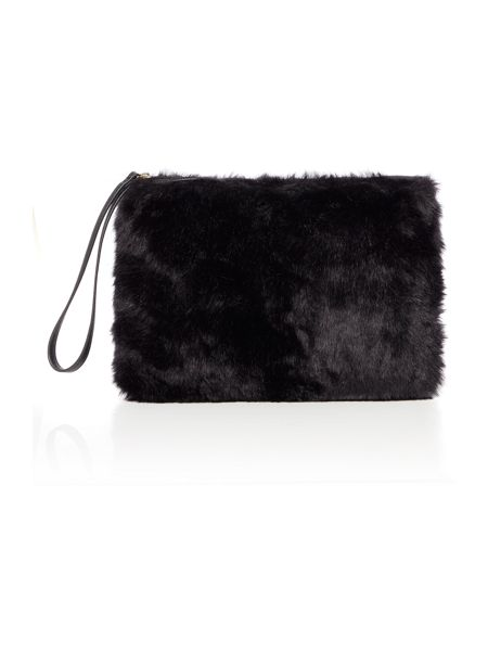 Therapy Faux fur pouch