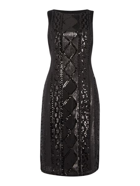 Adrianna Papell Sleeveless Beaded Front Cocktail Dress