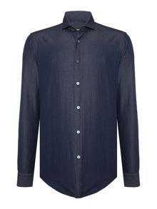 Hugo Boss Ridley F slim fit long sleeve twill shirt