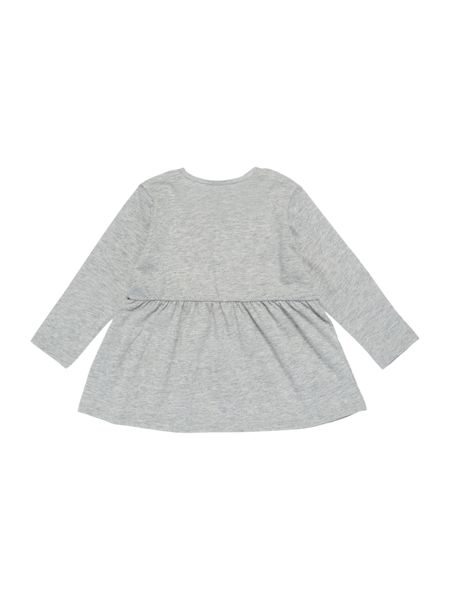 Benetton Girls Crew Cute Bear Face Top