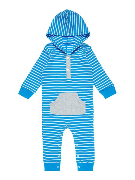 Benetton Boys Stripe All-In-One with Hood