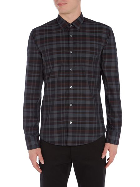 Hugo Boss Reid F multi check long sleeve shirt