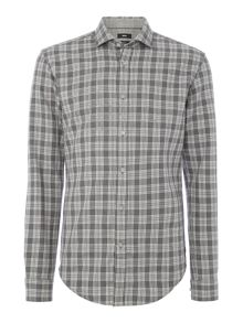 Hugo Boss Ridley 36 checked brushed marl long sleeve shirt