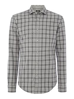Ridley 36 checked brushed marl long sleeve shirt