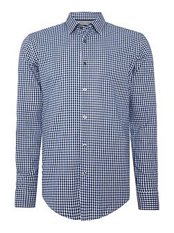 Ronni 4 slim fit small gingham check shirt