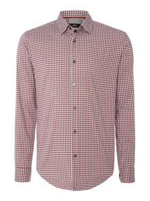 Hugo Boss Ronni 4 slim fit small gingham check shirt