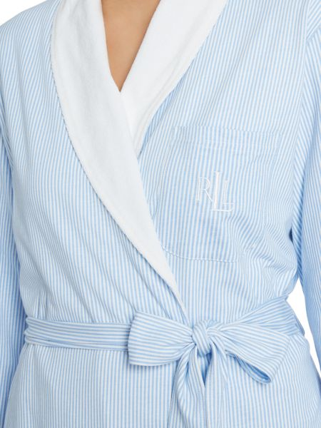 Lauren Ralph Lauren Short shawl terry lining robe
