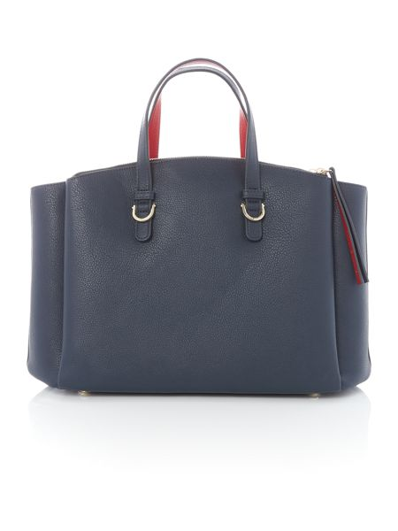 Tommy Hilfiger Core navy satchel bag