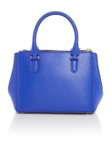 Lauren Ralph Lauren Newbury blue mini black zip tote bag