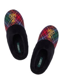Lauren Ralph Lauren Fleece lined tartan slipper