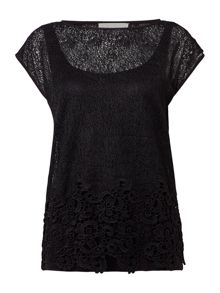 Gray & Willow Cia cobweb embroidery top
