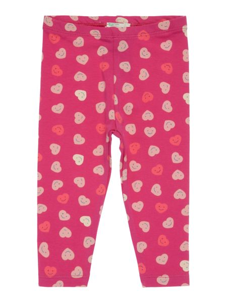 Benetton Newborn Smiley Heart Print Legging