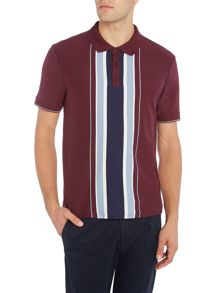 Merc Short Sleeve Vertical Stripe Polo