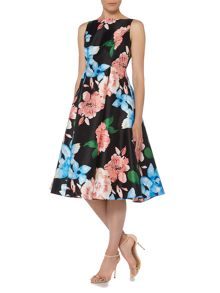 Adrianna Papell Floral fit and flare midi dress