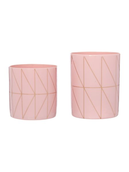Bloomingville Nude and gold votives, set of 2