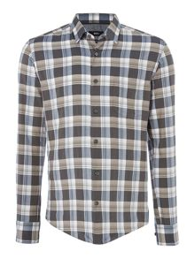 Hugo Boss Reid 4FP slim fit herringbone check shirt