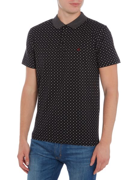 Merc Short Sleeve Polka Dot Polo