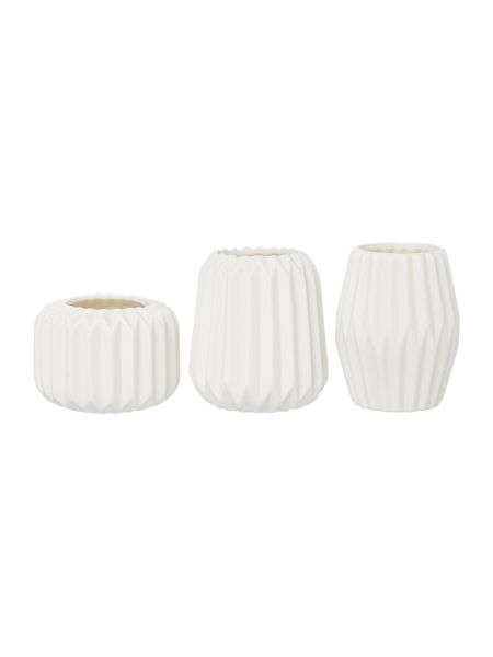 Bloomingville White votives, set of 3