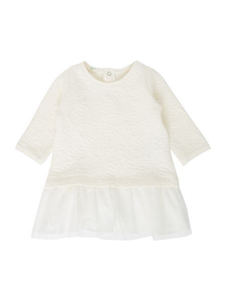 Benetton Baby Jaquard Jersey Dress with Mesh Skirt
