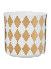 Bloomingville White and Gold Votive
