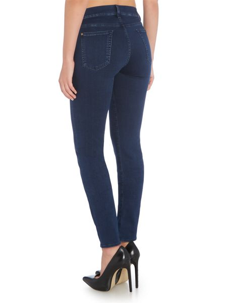 7 For All Mankind Rozie slim illusion luxe jean in rich indigo