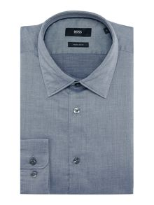 Hugo Boss Lucas 39F regular fit geo textured shirt