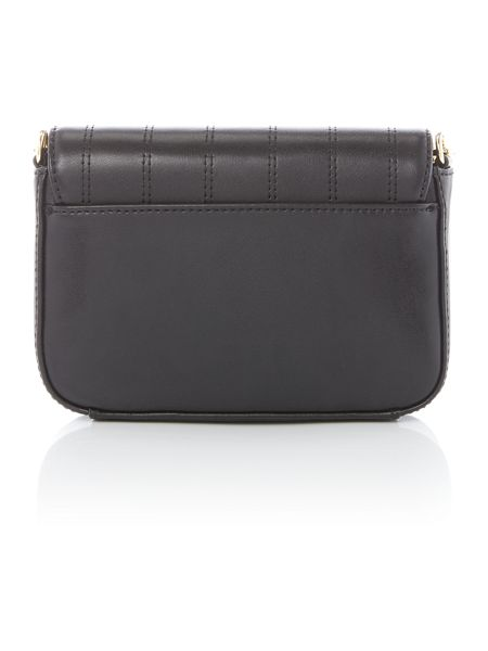 Tommy Hilfiger Stitched black small crossbody bag