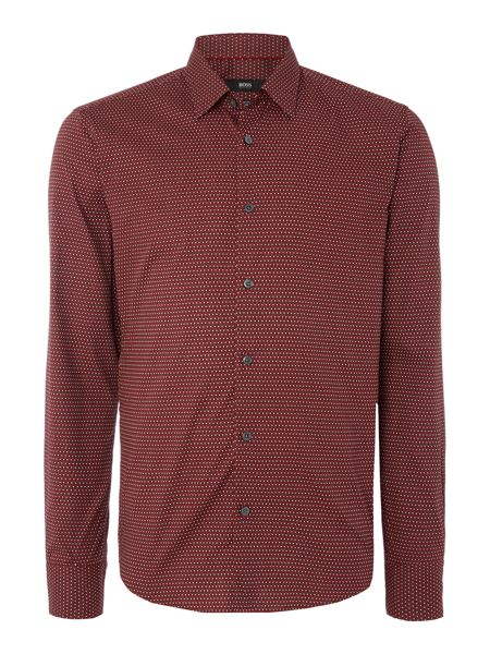 Hugo Boss Reid F slim fit geo patterned shirt