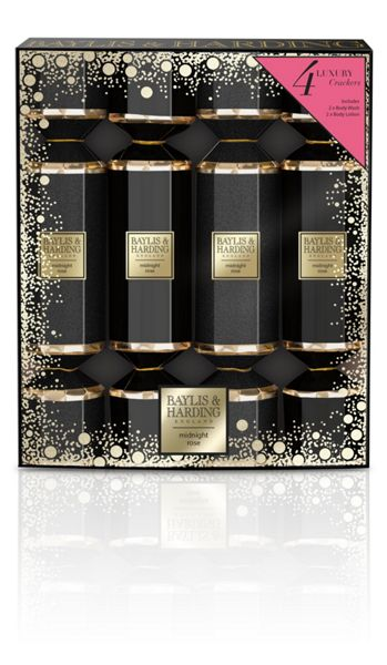Baylis & Harding Midnight Rose 4 Cracker Set