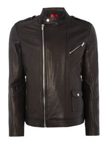 Hugo Lonn Leather Biker Jacket