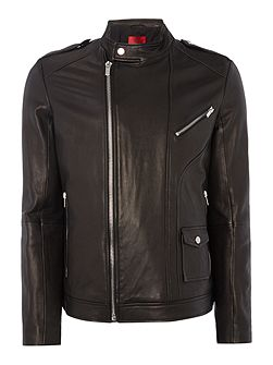 Lonn Leather Biker Jacket